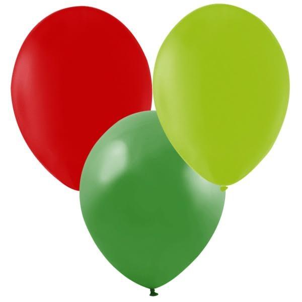 Ballonger Röd, grön, lime