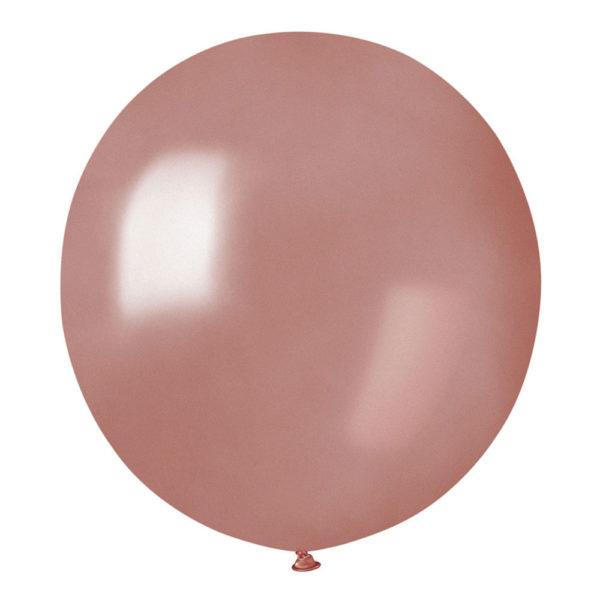 Ballonger Roséguld Runda Stora - 50-pack