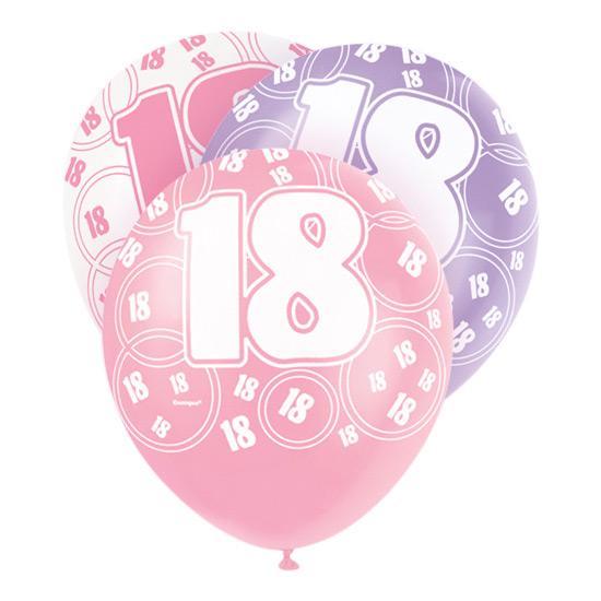 Ballonger Rosa 18 - 6-pack