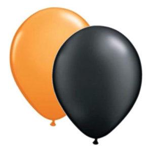 Ballonger Svart/Orange - 100-pack