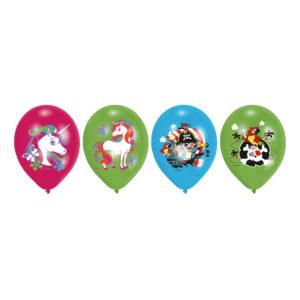 Ballonger med Enhörning - 6-pack