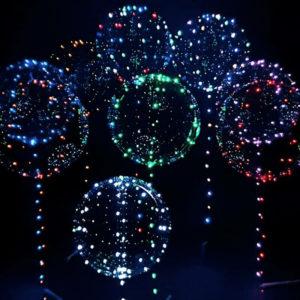 Ballonger med LED-Light Snöre - Grön