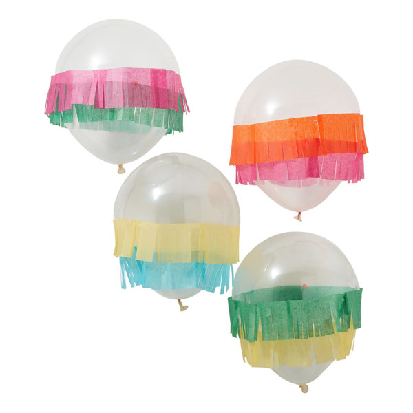 Ballonger med Pappersgirlang Fiesta - 5-pack