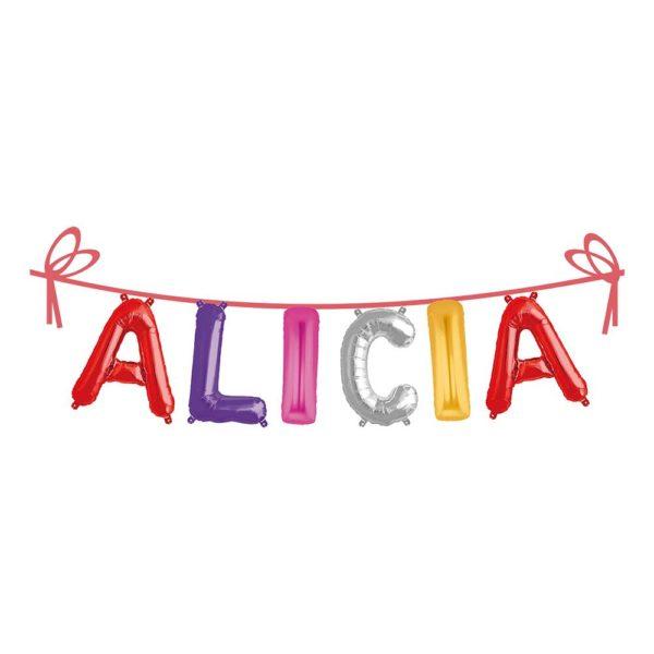 Ballonggirlang Folie Namn - Alicia