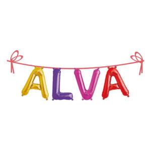 Ballonggirlang Folie Namn - Alva
