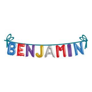 Ballonggirlang Folie Namn - Benjamin
