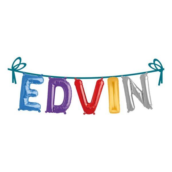 Ballonggirlang Folie Namn - Edvin