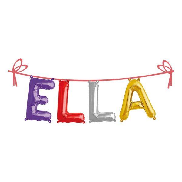 Ballonggirlang Folie Namn - Ella