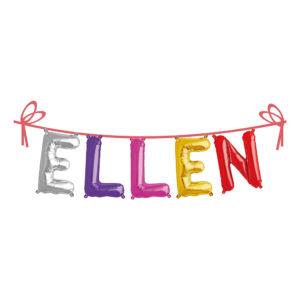 Ballonggirlang Folie Namn - Ellen