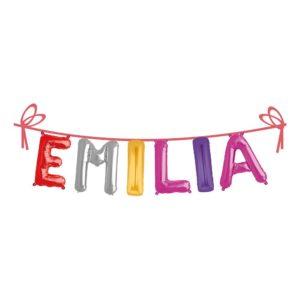 Ballonggirlang Folie Namn - Emilia