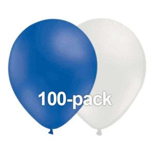 Ballongkombo Blå/Vit - 100-pack