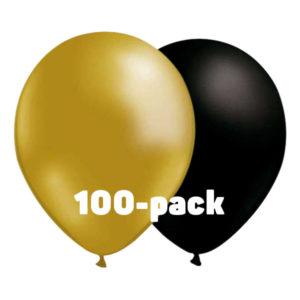 Ballongkombo Guld/Svart - 100-pack