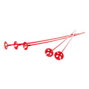Ballongpinnar Röda - 10-pack