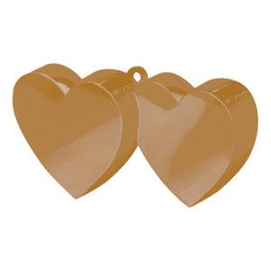 Ballongvikt Dubbla Hjärtan Guld