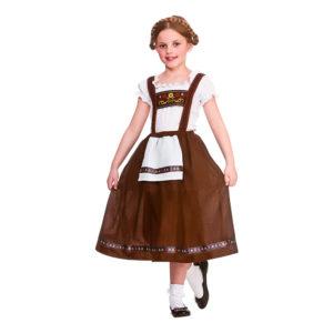 Bavarisk Flicka Barn Maskeraddräkt - Medium