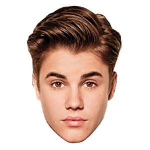 Bieber Pappmask - 1-pack