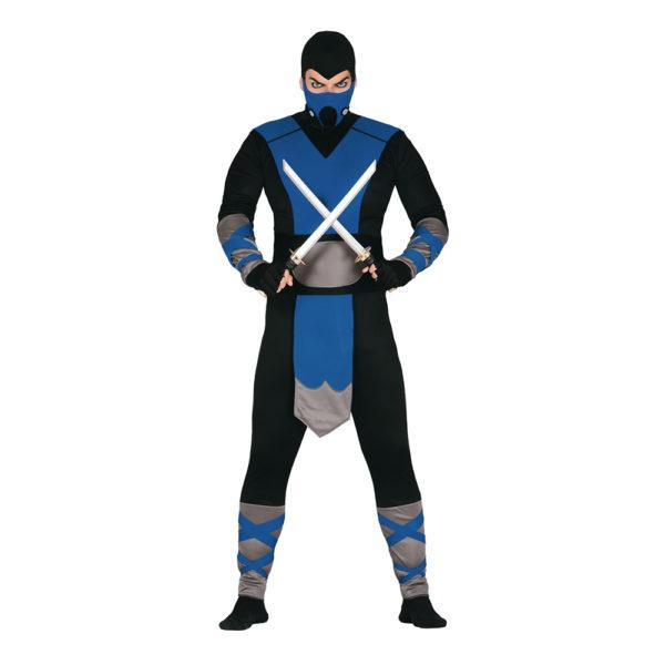 Blå Ninja Budget Maskeraddräkt - Large