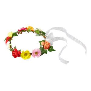 Blomsterkrans med Sidenband - One size