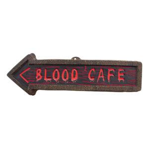 Blood Café Väggskylt