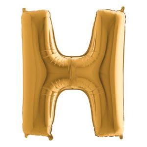 Bokstavsballong Guld - Bokstav H