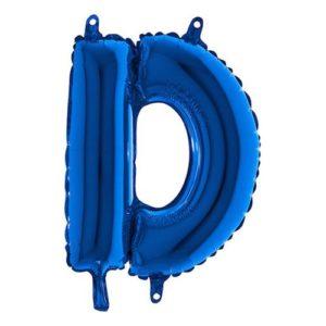 Bokstavsballong Mini Blå Metallic - Bokstav D
