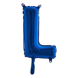 Bokstavsballong Mini Blå Metallic - Bokstav L