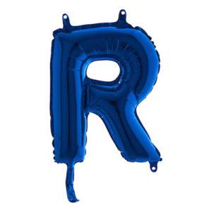 Bokstavsballong Mini Blå Metallic - Bokstav R