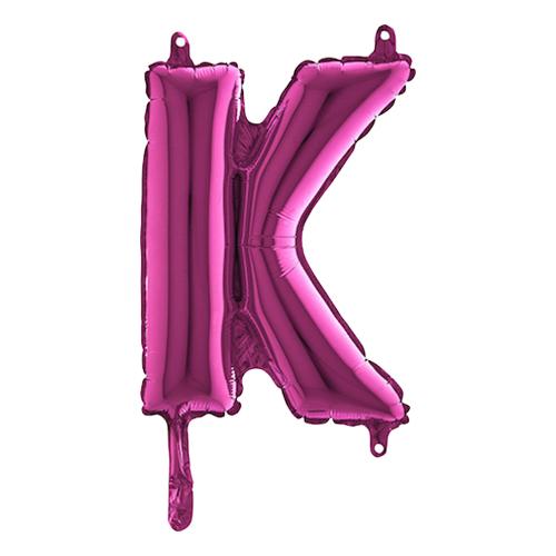 Bokstavsballong Mini Rosa - Bokstav K