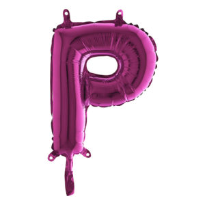 Bokstavsballong Mini Rosa - Bokstav P