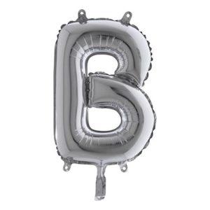 Bokstavsballong Mini Silver - Bokstav B