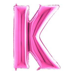 Bokstavsballong Rosa - Bokstav K