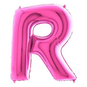 Bokstavsballong Rosa - Bokstav R