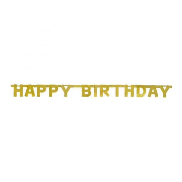 Bokstavsgirlang Happy Birthday Guld