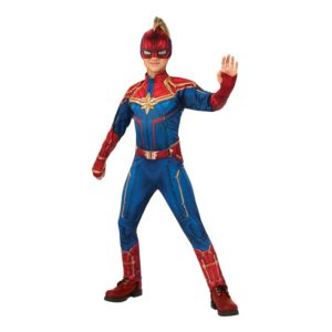 Captain Marvel Hero Barn Deluxe Maskeraddräkt - Medium