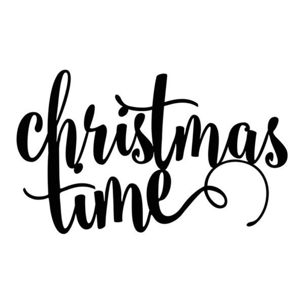 Christmas Time Svart Dekoration