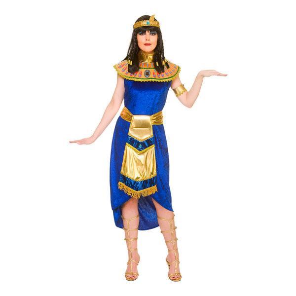 Cleopatra Blå Maskeraddräkt - Large