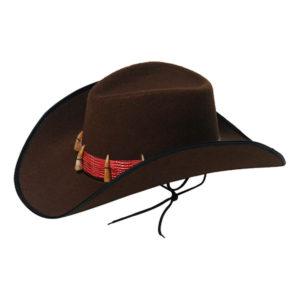 Cowboyhatt med Krokodiltänder - One size