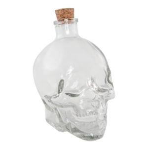 Dödskalle Flaska