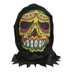 Day of the Dead Hudmask med Luva - One size
