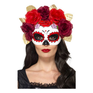 Day of the Dead Rosor Ögonmask - One size