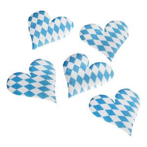 Dekorationshjärtan Bayersk Blå - 7-pack