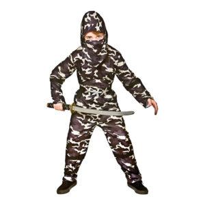 Delta Force Ninja Barn Maskeraddräkt - Small