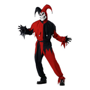 Den Elake Gycklaren Röd/Svart Maskeraddräkt - Plus size