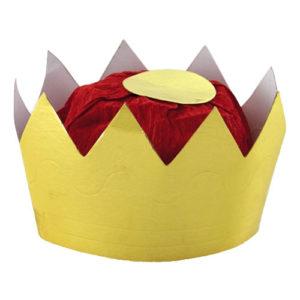 Drottningkrona i Papp Guld - Liten