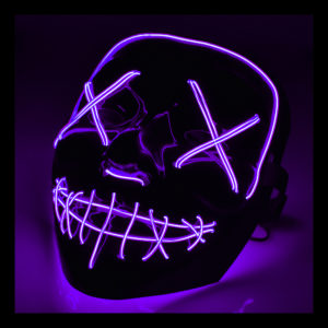 El Wire Purge LED Mask - Lila