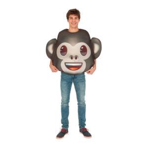 Emoji Monkey Maskeraddräkt - One size