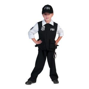 FBI Agent Pojke Maskeraddräkt - Large
