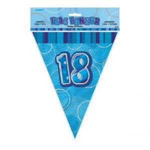 Flaggirlang Blå 18