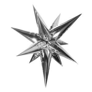 Folieballong 3D Stjärna Silver