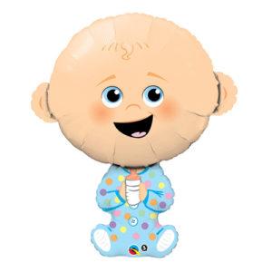 Folieballong Bebispojke med Nappflaska